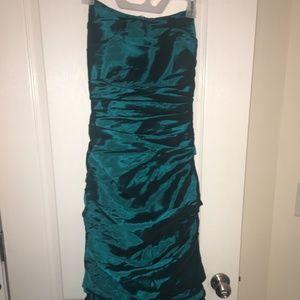 Dresses & Skirts - Emerald Green Trumpet Dress, Strapless